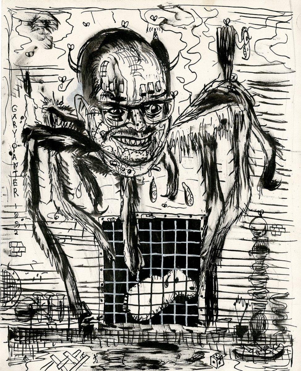 Original illustration by Gary Panter, 1992