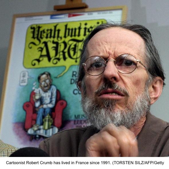 American cartoonist Robert Crumb gives a