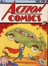 Cover illustration of the comic book Action Comics No. 1 featuring the first appearance of the character Superman (here lifting a car) June 1938. (Photo by Hulton Archive/Getty Images)