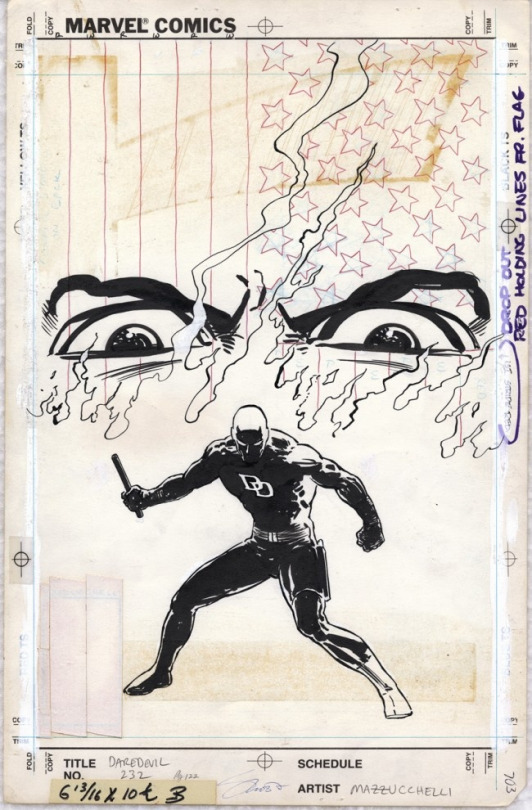 Original Art - Daredevil #232 (1986) by David Mazzucchelli