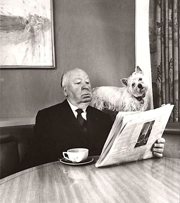 Alfred Hitchcock and his Sealyham Terrier, 1974.jpg
