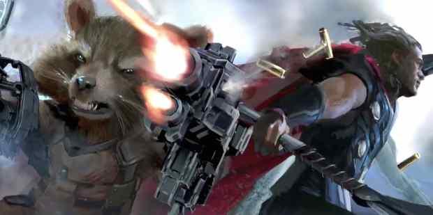 avengers-3-rocket-raccoon-thor-art