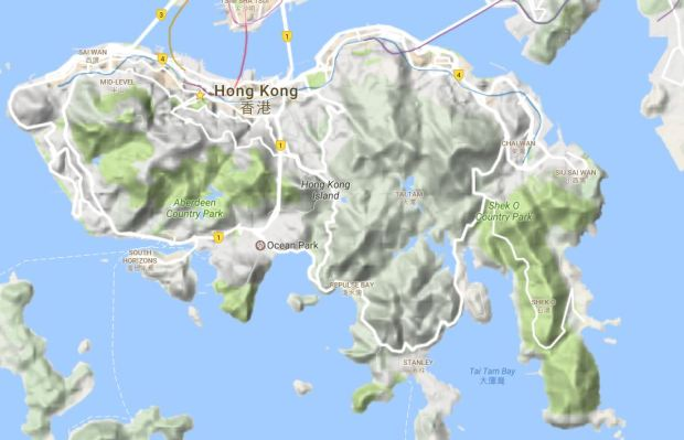 hong-kong-relief-map