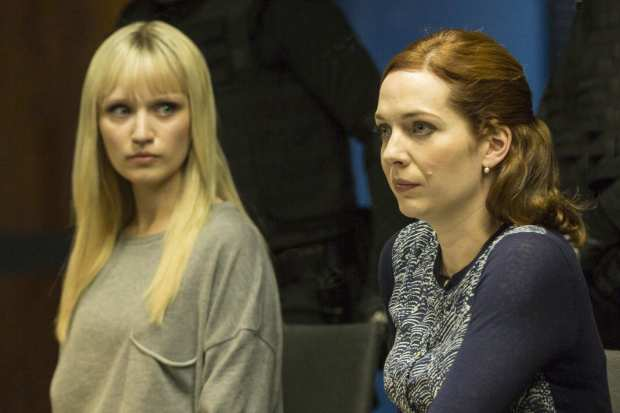 Emily Berrington as Niska, Katherine Parkinson as Laura. Photo: Colin Hutton/Kudos/CH4/AMC