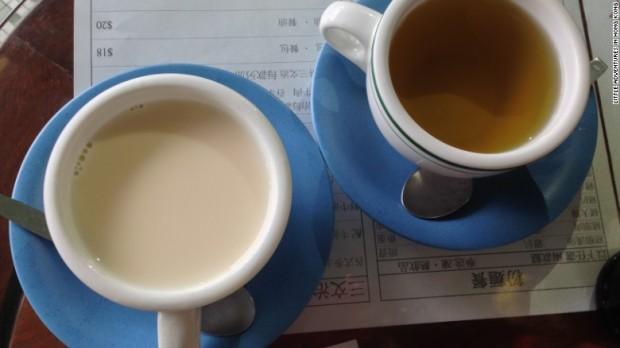 Milk tea is a staple in Hong Kong's cha chaan teng diners.