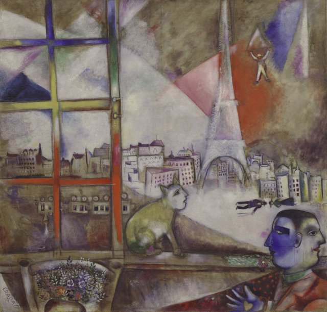 """Paris Through the Window,"" a 1913 work by Marc Chagall. Courtesy of C 2010 Artists Rights Society (ARS), New York/ADAGP, Paris"