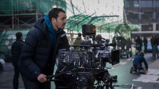 Director Rupert Sanders on location for