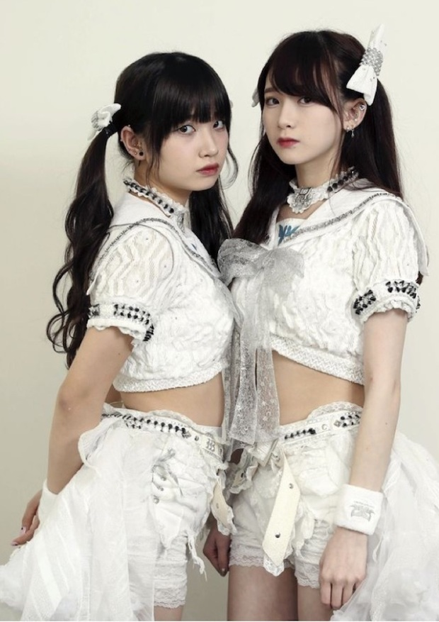 Rei Kuromiya, left, and Rie Kaneko of The Idol Formerly Known As Ladybaby. The Yomiuri Shimbun