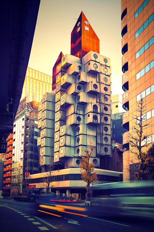 Nakagin Capsule Tower, Tokyo Japan