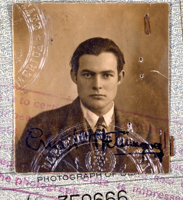 "The 1923 passport of Ernest Hemingway, among those discussed in ""Paris the Luminous Years"" on PBS.Courtesy of John F. Kennedy Presidential Library and Museum, Boston"