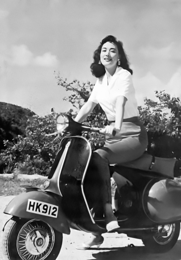 60s Hong Kong scooter girl, Yeh Feng. - The Mod Generation vespa late 50s