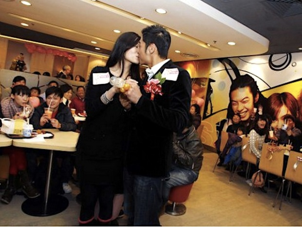 Couples married at McDonald's in Hong Kong.