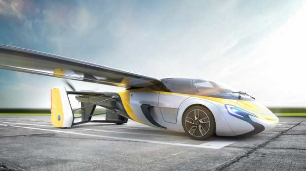Render of the new AeroMobil flying car, set to be released and for sale on April 20 (Credit: AeroMobil)