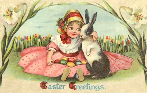 easter postcard girl and bunny.JPG