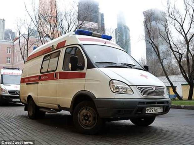 Two North Koreans have been found dead in separate rooms in the same Moscow hotel amid reports they both suffered 'acute heart failure'. An ambulance is seen driving near the scene  Read more: http://www.dailymail.co.uk/news/article-4555270/Mystery-2-North-Koreans-dead-Moscow-hotel.html#ixzz4ibdpBg00  Follow us: @MailOnline on Twitter | DailyMail on Facebook