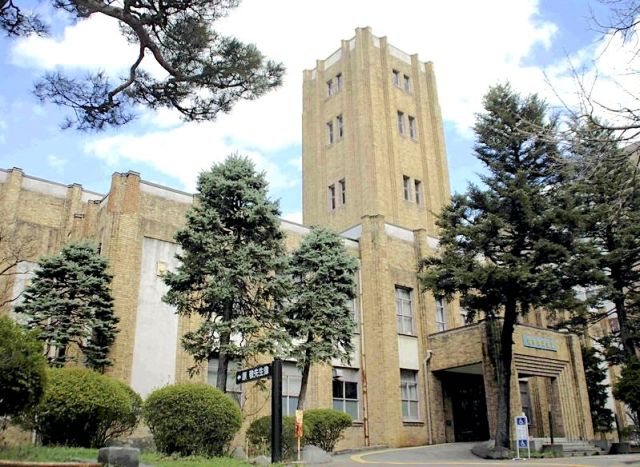 The Iwate Prefecture Public Hall, a popular spot for cosplay photo shoots, in Morioka