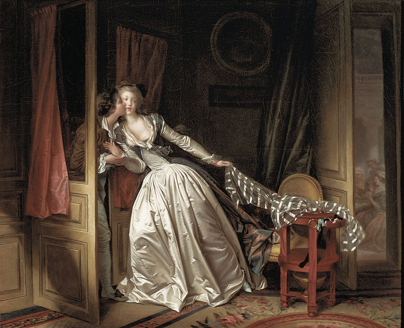 "©The State Hermitage Museum, St. Petersburg, 2017-18 ""The Stolen Kiss"" by Jean-Honore Fragonard and Marguerite Gerard (late 1780s)"