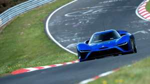 The NIO EP9 lapped the Nurburgring Nordschleife in 6:45.900