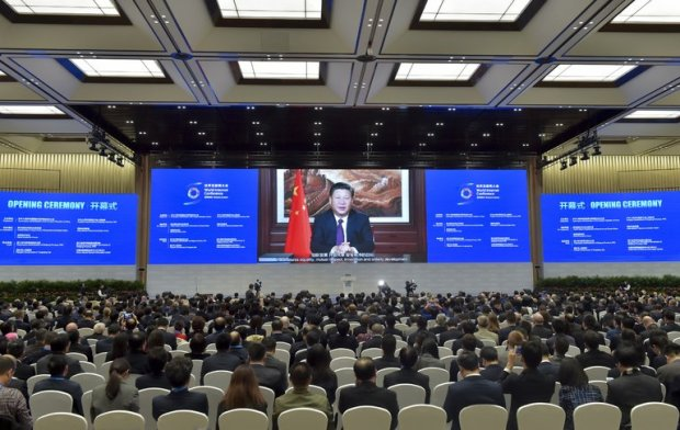 President Xi Jinping spoke by video link to delegates at the World Internet Conference in Wuzhen, China, in November. The country is stepping up efforts to manage the internet within its borders. Credit Agence France-Presse — Getty Images