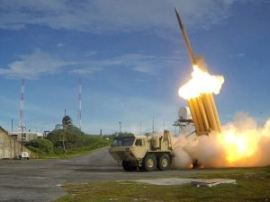 Reuters file photo A Terminal High Altitude Area Defense (THAAD) interceptor is launched during a successful intercept test, in this undated handout photo provided by the U.S. Department of Defense.