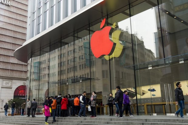 In China, iPhone users' information is highly prized on the black market because of the belief they are more affluent. PHOTO: WANG GANG/ZUMA PRESS