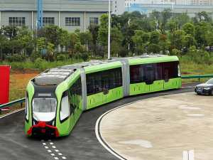 The vehicle was unveiled in the city of Zhuzhou on June 2nd (Credit: CRRC Zhuzhou Institute Co Ltd)