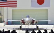 Yomiuri Shimbun file photo The first F-35A stealth fighter manufactured in Japan is seen at a Mitsubishi Heavy Industries Ltd. factory in Toyoyama, Aichi Prefecture, on June 5.