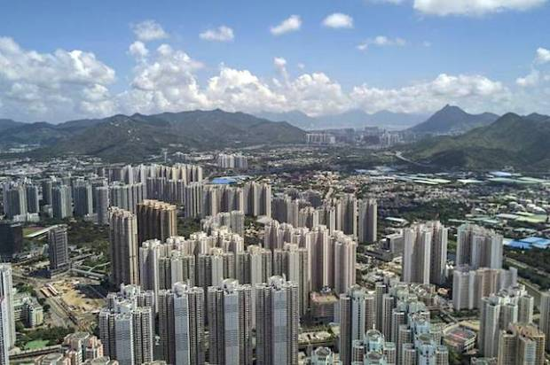 Tin Shui Wai in northern Hong Kong earlier in June. The area is popular with migrants from the mainland. PHOTO: ZUMA PRESS