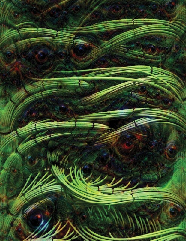 The artist Adam Ferriss created this image, and the one below, using Google Deep Dream, a program that adjusts an image to stimulate the pattern recognition capabilities of a deep neural network. The pictures were produced using a mid-level layer of the neural network.