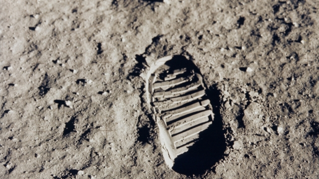 A human footprint on the moon. Japan has revealed its plans to put a human there by 2030. Credit: NASA/via Reuters