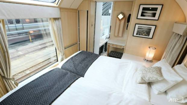 The top suite on the Twilight Express Mizukaze costs 2.4 million yen ($22,000) for a two-night, three-day return trip AFP/STR
