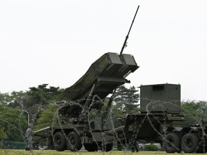 Air Self-Defense Force members participate in a training exercise in June involving the Patriot Advanced Capability 3 (PAC-3) surface-to-air guided missile unit at Camp Asaka in Tokyo's Nerima Ward. (Takayuki Kakuno)