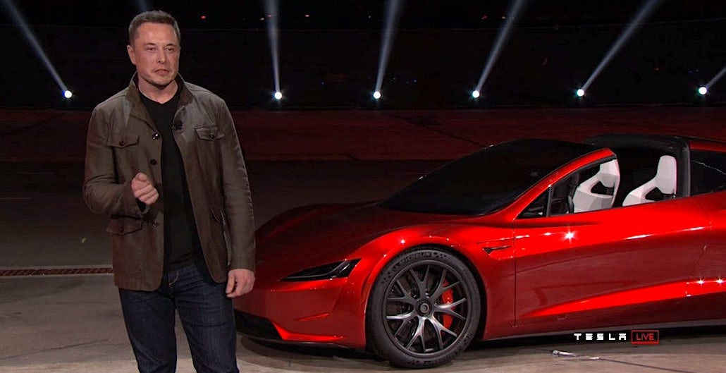 [VIDEO] Tesla Reveals Insanely Fast Next-Gen Roadster