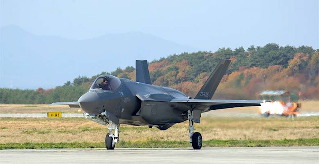 [PHOTOS] First Japanese-built F-35A Lands at Misawa Misawa Air Base
