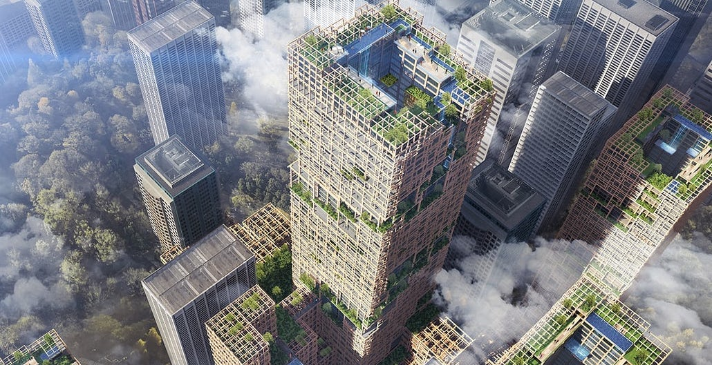 Plyscraper City: Tokyo to Build 350m Tower Made of Wood