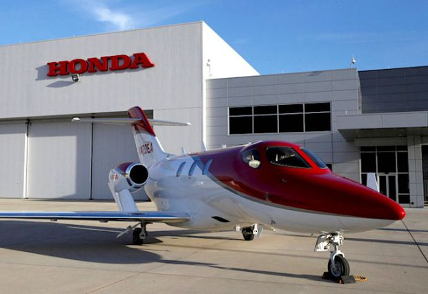 FILE PHOTO : Honda Motor's HondaJet business airplane is seen at Honda Aircraft Company in Greensboro
